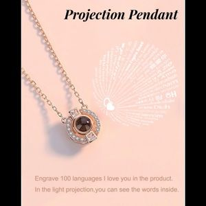 Jewelry - Pendant light projection necklace